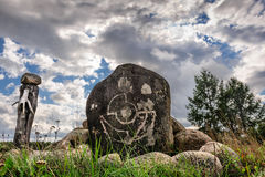 Saami sejd, pagan idol Royalty Free Stock Photo