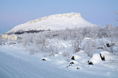 Saana Hill in winter, Finnish Lapland, Finland Stock Photography