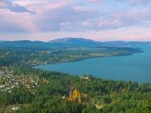 Saanich halvö på den Vancouver ön Royaltyfri Fotografi
