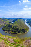 Saar loop at Cloef. A famous view. Point Stock Photo