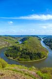 Saar loop at Cloef. A famous view. Point Royalty Free Stock Images