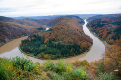 Saar loop at Cloef. A famous view point. Stock Image