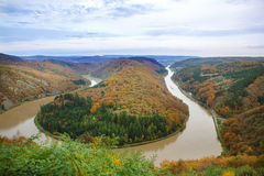 Saar loop at Cloef. A famous view point. Stock Photo