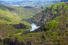 Saar loop at Mettlach. A famous view point Stock Photos