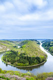 Saar loop at Mettlach Stock Images