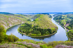 Saar loop at Mettlach Stock Image