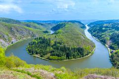 Saar loop at Mettlach. A famous view point Royalty Free Stock Photography