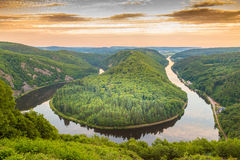 Saar loop at Mettlach in Saarland Germany Royalty Free Stock Images