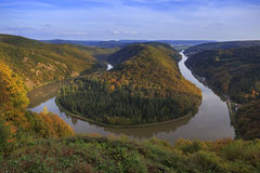 Saar loop (saarschleife) Royalty Free Stock Image