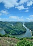 Saar River bow,Mettlach,Saarland,Germany Royalty Free Stock Image