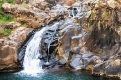 Saar river waterfall, Golan Heights, Israel Royalty Free Stock Photos