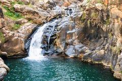 Saar river waterfall, Golan Heights, Israel Stock Photo