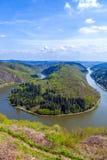 Saar-Schleife bei Cloef. Eine berühmte Ansicht Stockfoto