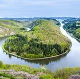Saar-Schleife bei Mettlach Lizenzfreies Stockbild