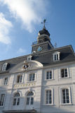 Saarbruecken Town Hall. Called Rathaus in German, was buit in 1750 in the baroque style and is still used today. Saarbruecken is the capital of a federal state Royalty Free Stock Photo