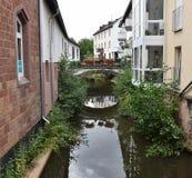 Saarburg, Германия Перемещение, архитектура Стоковые Изображения RF