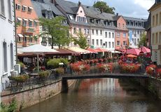 Saarburg, Германия Перемещение, архитектура стоковая фотография rf