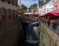 Saarburg, Германия Перемещение, архитектура стоковые фото