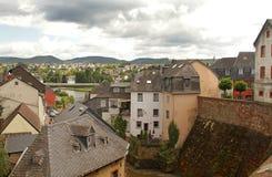 Saarburg-Dorf Stockbild