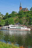 Saarburg, fiume della Saar, Germania Fotografie Stock