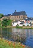 Saarburg, Rivier Saar, Duitsland Stock Afbeeldingen