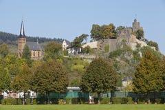 Saarburg - slott Saarburg Arkivbild