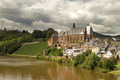 Saarburg village Stock Photography