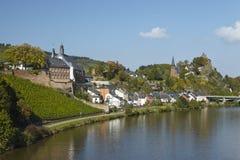 Saarburg - vista de uma ponte de Sarre Fotografia de Stock