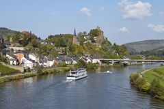 Saarburg - widok od Saar mosta Obraz Stock