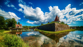 Saarema Island, Estonia: Kuressaare Episcopal Castle Stock Image