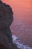 saaremaa froid de panga d'océan de glace de falaise Photographie stock libre de droits