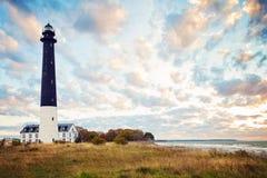 Saaremaa island, Estonia. Sorve lighthouse on the Baltic sea coast.  stock photo
