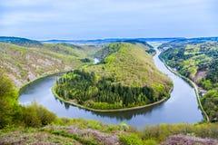 Saarland ögla på Mettlach Fotografering för Bildbyråer
