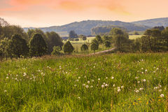 Saarland landscape in the morning. Rural saarland landscape in the morning Royalty Free Stock Image