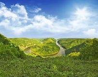 Saarschleife. River Saar with it's famous Loop Stock Photo