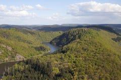 Saarschleife. Loop of the river Saar near Mettlach, Germany Royalty Free Stock Image