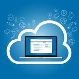 SaaS软件作为在云彩互联网搜索引擎优化结果的一项服务在网 免版税库存照片