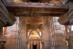 Saas-Bahu寺庙内部 免版税库存图片