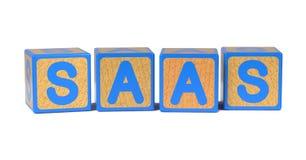 SAAS - Blocs de l'alphabet des enfants colorés. Photographie stock libre de droits