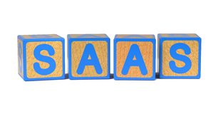 SAAS - Colored Childrens Alphabet Blocks. Royalty Free Stock Photography
