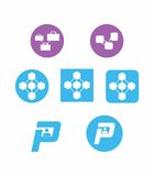 Saas company icons. A set of icons and logos that correlates to Saas companies Royalty Free Stock Photo