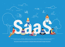 Saas concept illustration Stock Images