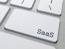 SAAS.  Concetto di tecnologia dell'informazione. Immagini Stock Libere da Diritti