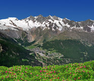 Saas Fee, Switzerland Royalty Free Stock Images
