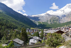 Saas Fee town Switzerland Stock Image