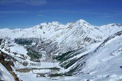 Saas Gebühren-Skifahrenrücksortierung Lizenzfreie Stockfotografie