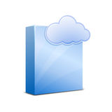 SaaS icon Blue vector illustration Royalty Free Stock Photography