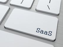 SAAS.  Information Technology Concept. Royalty Free Stock Images