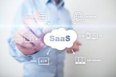 SaaS, software come servizio Concetto della rete e del Internet fotografia stock