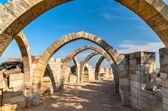 Saat Kaman, sete arcos em Pavagadh - estado de Gujarat da Índia Imagens de Stock Royalty Free